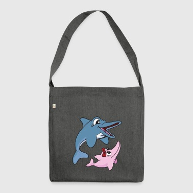 Dolphins dolphins - Shoulder Bag made from recycled material