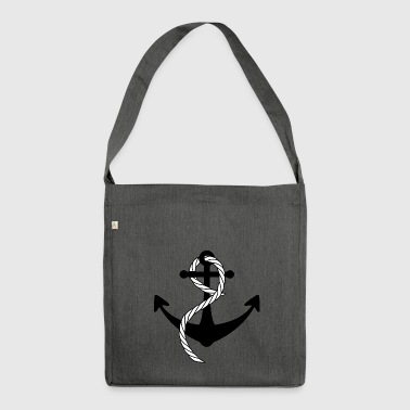 Ship Anchor - Shoulder Bag made from recycled material