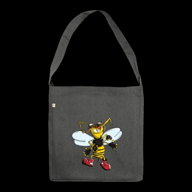bumblebee bee wasp hornet bee wasp horny - Shoulder Bag made from recycled material
