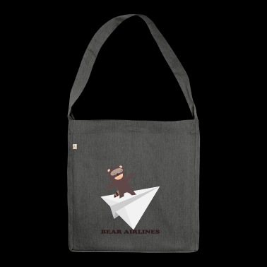 bear flight - Shoulder Bag made from recycled material