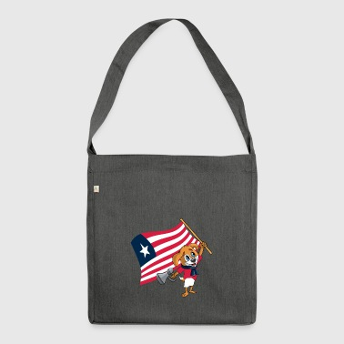 Liberia fan dog - Shoulder Bag made from recycled material