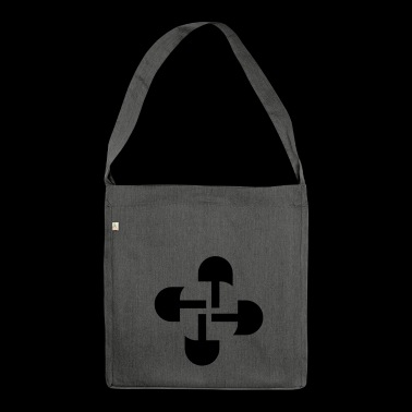 Round Swastika Key Design! - Shoulder Bag made from recycled material