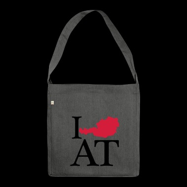 I love AT - I love Austria - Shoulder Bag made from recycled material