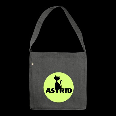 Astrid name cat full moon name day - Shoulder Bag made from recycled material