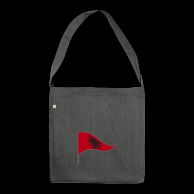 Albania Tirana Saranda flag flag country colors - Shoulder Bag made from recycled material