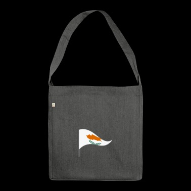 Cyprus mediterranean flag Landesfarbe flag island - Shoulder Bag made from recycled material