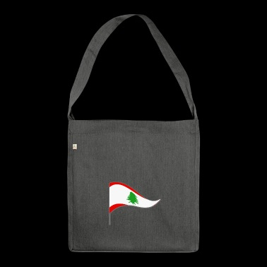 Lebanon Beirut Asia Flag Flag Country color Arab - Shoulder Bag made from recycled material