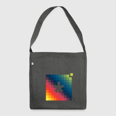 asterisk pixel t-shirt - Shoulder Bag made from recycled material