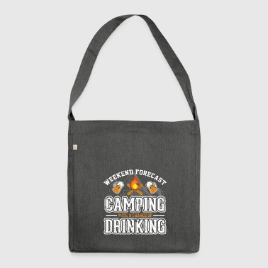 CAMPING WITH A CHANCE OF DRINKING - Shoulder Bag made from recycled material
