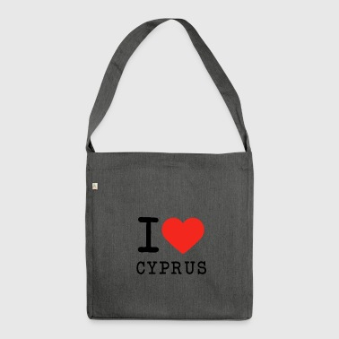 I love Cyprus - Shoulder Bag made from recycled material