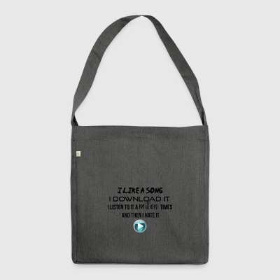I like it and I download it - Shoulder Bag made from recycled material