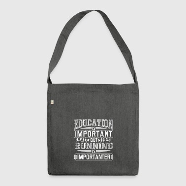 RUNNING JOG: RUNNING IS IMPORTANT GIFT - Shoulder Bag made from recycled material
