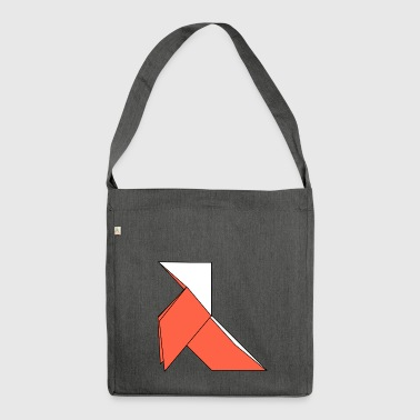 origami paper plane paper airplane1 - Shoulder Bag made from recycled material