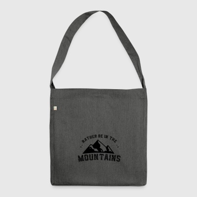 MOUNTAIN HIKING: RATHER BE IN THE MOUNTAIN'S POISON - Shoulder Bag made from recycled material