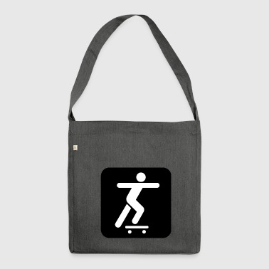 skater skateboard boarder skateboarding8 - Shoulder Bag made from recycled material