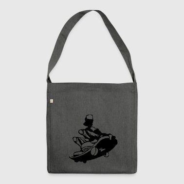 skater skateboard boarder skateboarding15 - Shoulder Bag made from recycled material