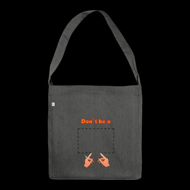 Don't be a square! Pulp Fiction - movie quote - Shoulder Bag made from recycled material