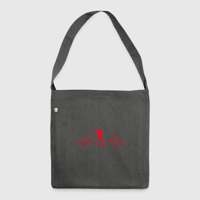 Biathlon Sagittarius 5 Hits Heartbeat Gift ECG - Shoulder Bag made from recycled material