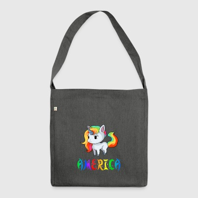Unicorn America - Shoulder Bag made from recycled material