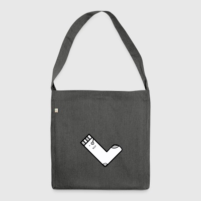 QuadratSocke YouTube Merch - Schultertasche aus Recycling-Material
