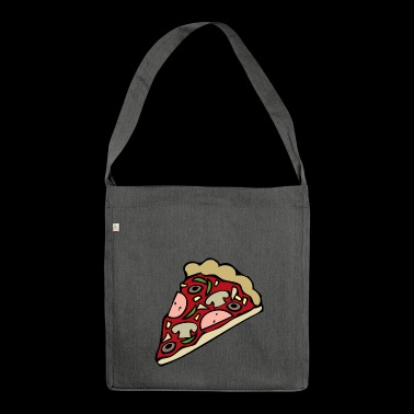 pizza pizzeria food food restaurant14 - Shoulder Bag made from recycled material