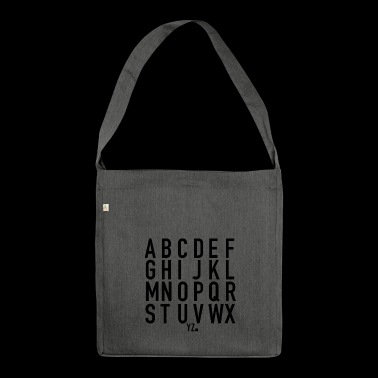 Alphabet. - Shoulder Bag made from recycled material