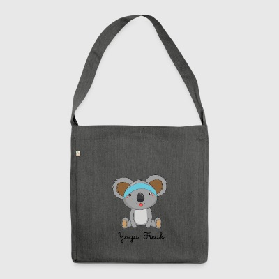 Yoga Freak, funny yoga shirt with koala - Shoulder Bag made from recycled material