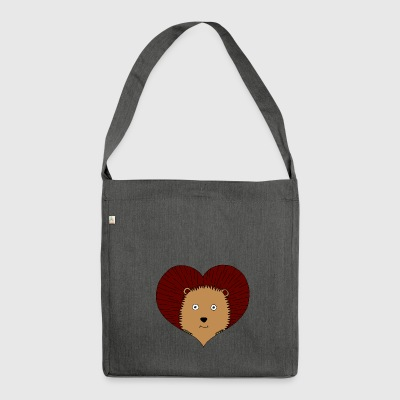 cuore Hedgehog - Borsa in materiale riciclato