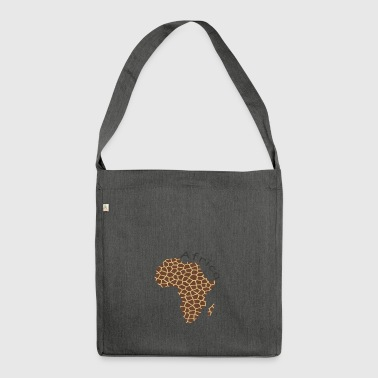 Africa, continent, Africa - Shoulder Bag made from recycled material