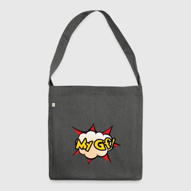 My GF! BFF partner look funny Best friend part 1 - Shoulder Bag made from recycled material