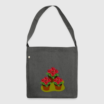 flower flowers garden garden spring spring - Shoulder Bag made from recycled material