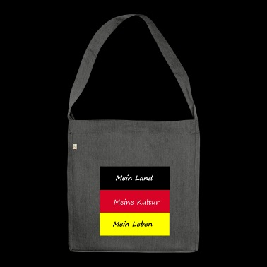 Flagge - Schultertasche aus Recycling-Material