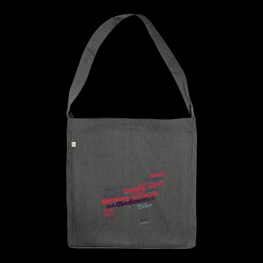 Obedience Hundesilhouette - Schultertasche aus Recycling-Material