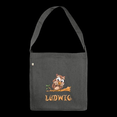 Eule Ludwig - Schultertasche aus Recycling-Material