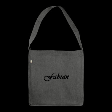 Fabian font name cool font - Shoulder Bag made from recycled material