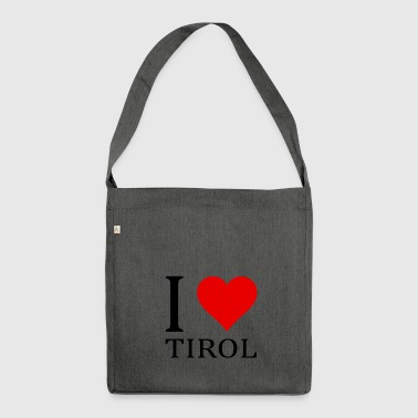 I love Tyrol! - Shoulder Bag made from recycled material