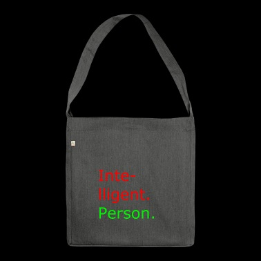 intelligent person - Schultertasche aus Recycling-Material