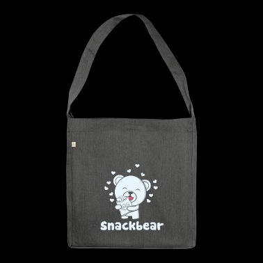 Snack bear / snack bear with heart - Shoulder Bag made from recycled material