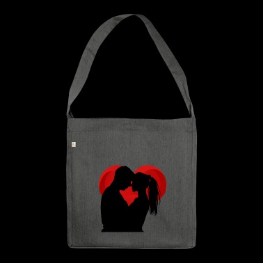 Loving Couple - Shoulder Bag made from recycled material