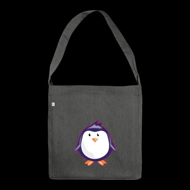 CUTE LITTLE PENGUIN PLAIN - Shoulder Bag made from recycled material