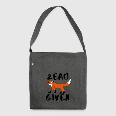 Zero Fox ingegno Dato idea regalo Waldtiere - Borsa in materiale riciclato
