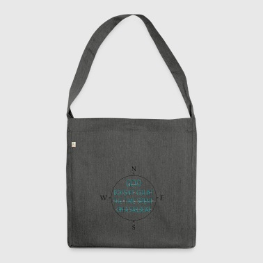Sailors live longer - Shoulder Bag made from recycled material