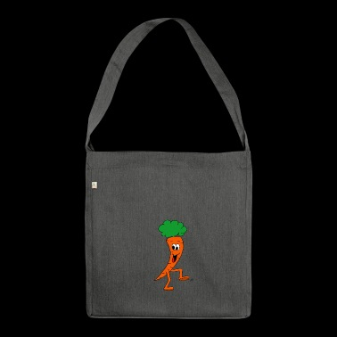 Carrot carrot carrot veggie - Shoulder Bag made from recycled material