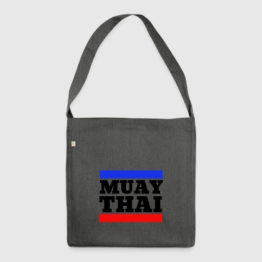 Muay Thai - Thai Boxing - Boxing - Black - Shoulder Bag made from recycled material