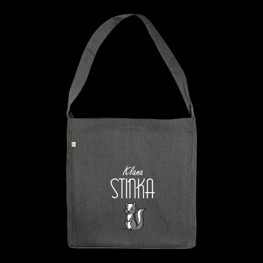 Klana Stinka - dialect motive - Shoulder Bag made from recycled material