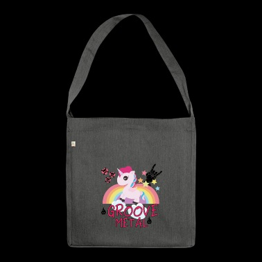 Groove Metal Unicorn Rainbow Horse Gift - Shoulder Bag made from recycled material