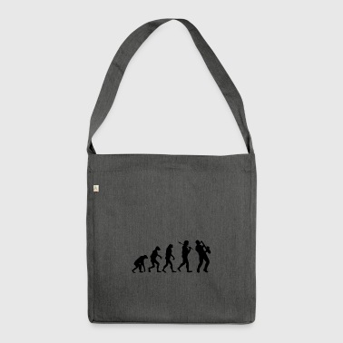 Evolution Saxophone Music Gift Saxophonist - Shoulder Bag made from recycled material