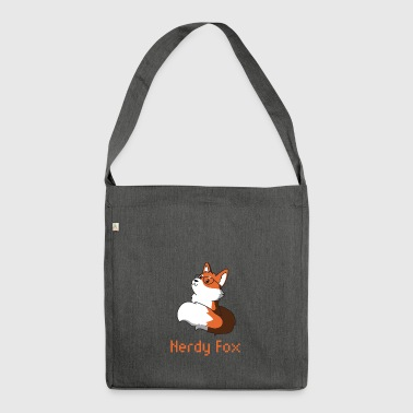 Fox with glasses nerd nerdy gift animal idea - Shoulder Bag made from recycled material