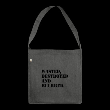 W'sted, destroyed and blurred - Schultertasche aus Recycling-Material