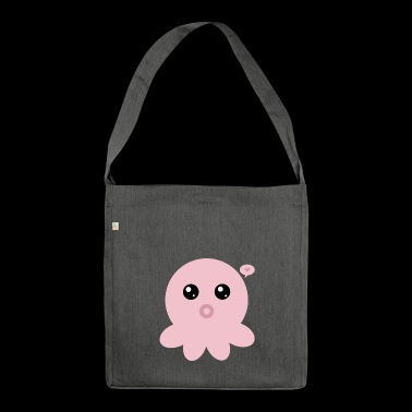 Polipo rosa Kawaii - Borsa in materiale riciclato